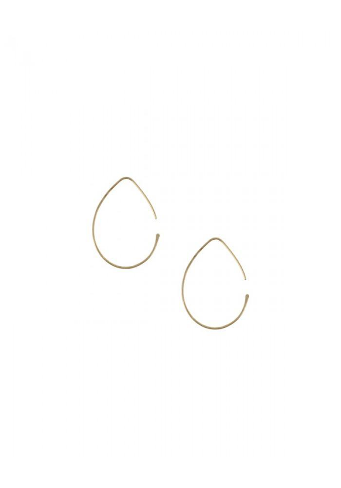 Small Pure Slide Thru Teardrop Earrings