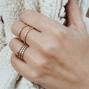 Tiny Dot Stacker Ring