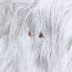 Tiny Triangle Stud Earrings