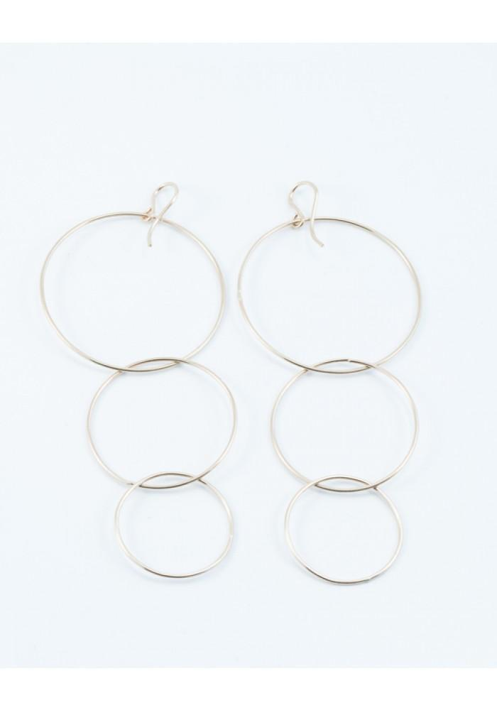 Triple Drop Hoop Earrings