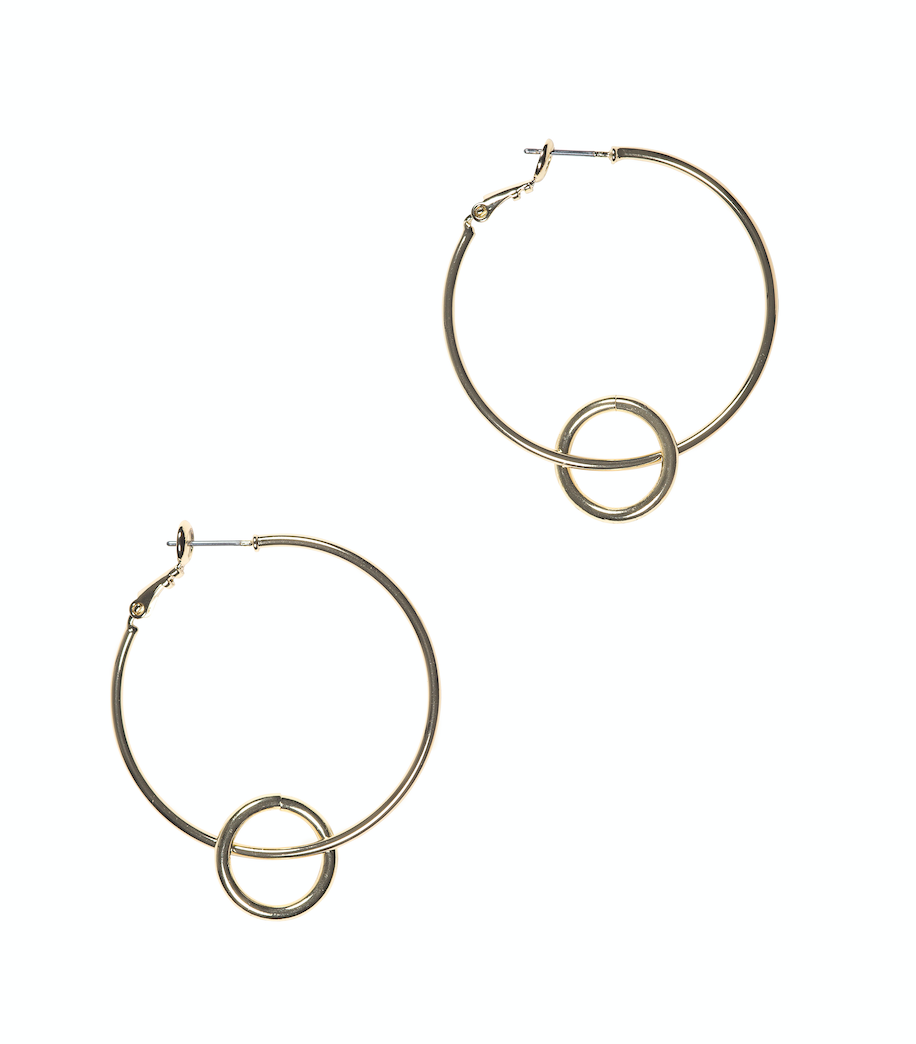 HARLOW Classic Hoop Drop Earrings