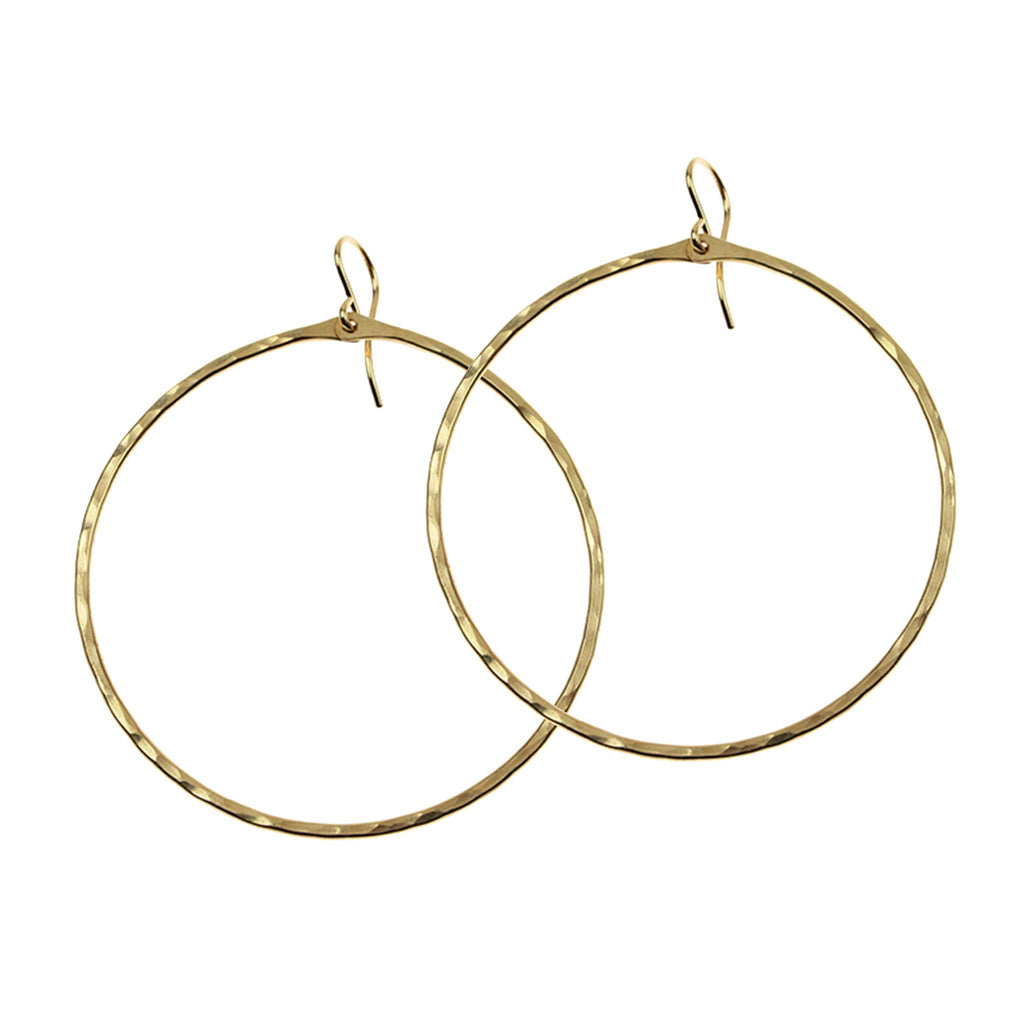 Hammered Signature Large Hoop Earrings