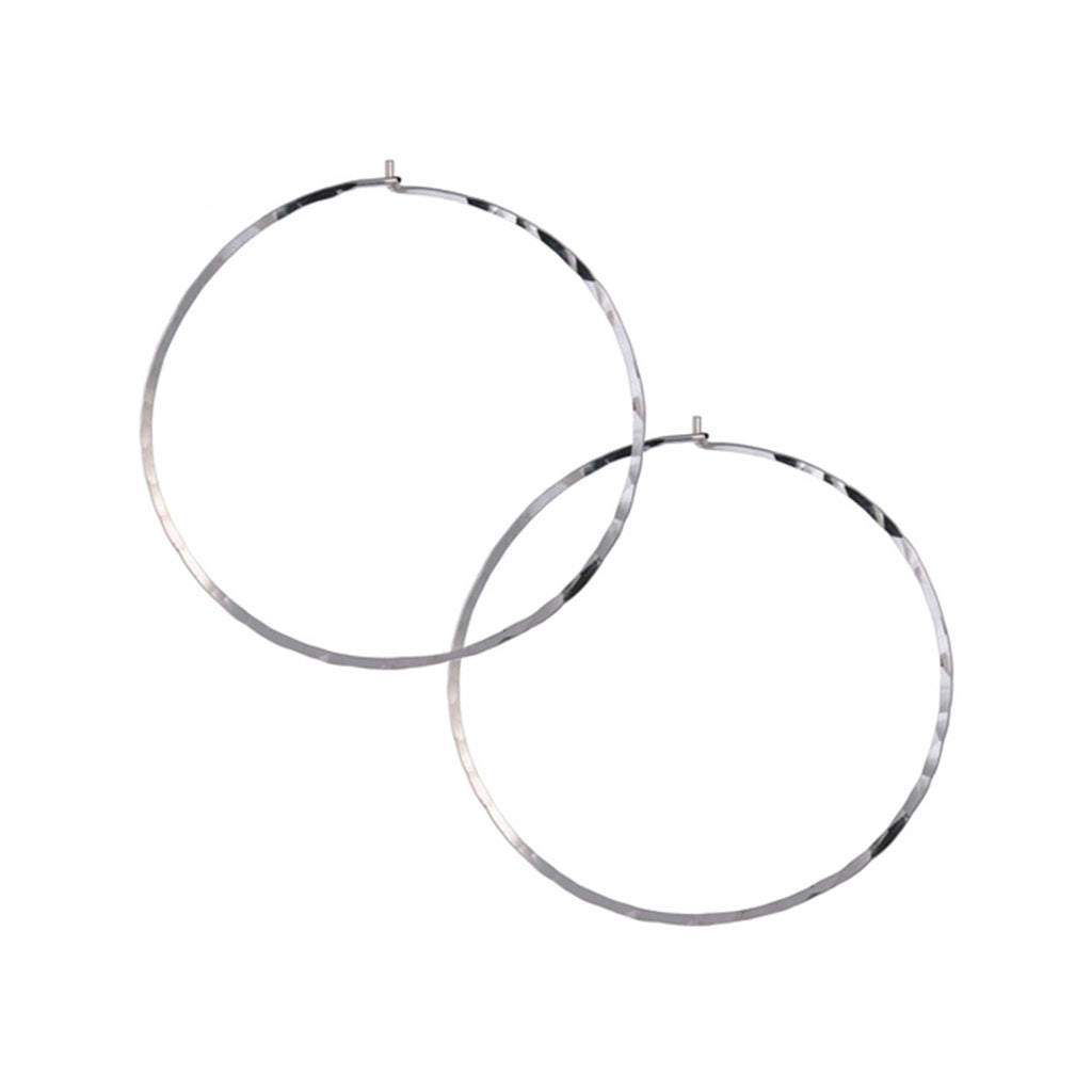 Large Slide Thru Hoop Earrings