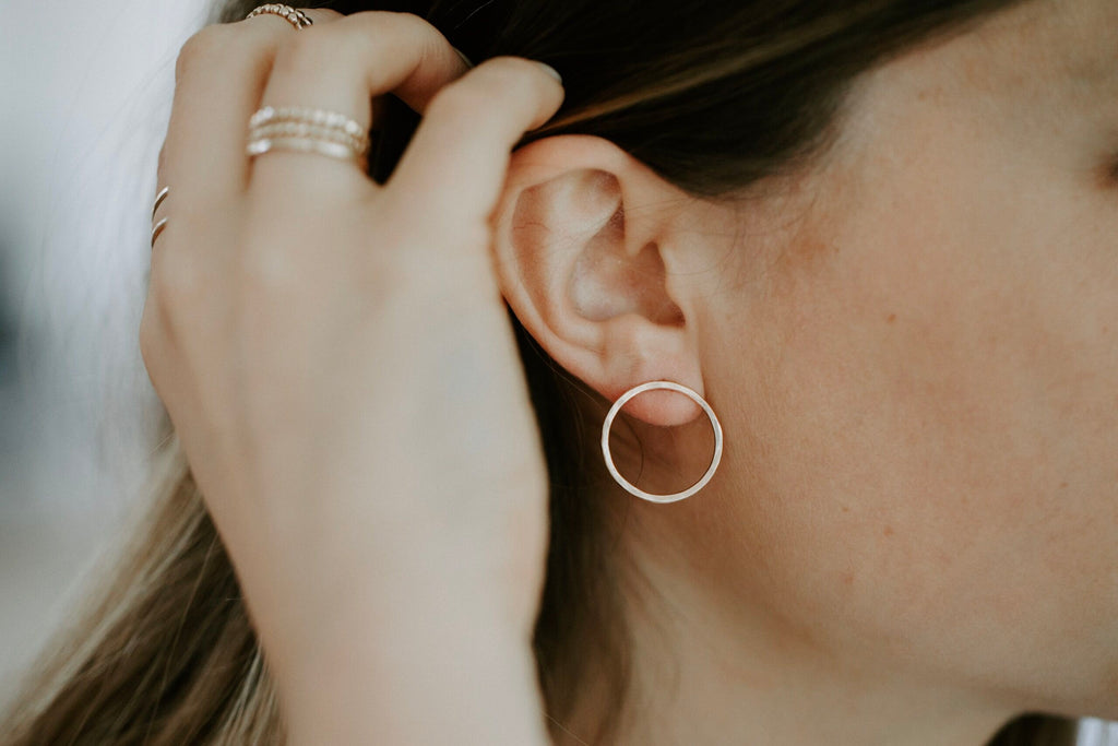 Faceted Bubble Post Earring