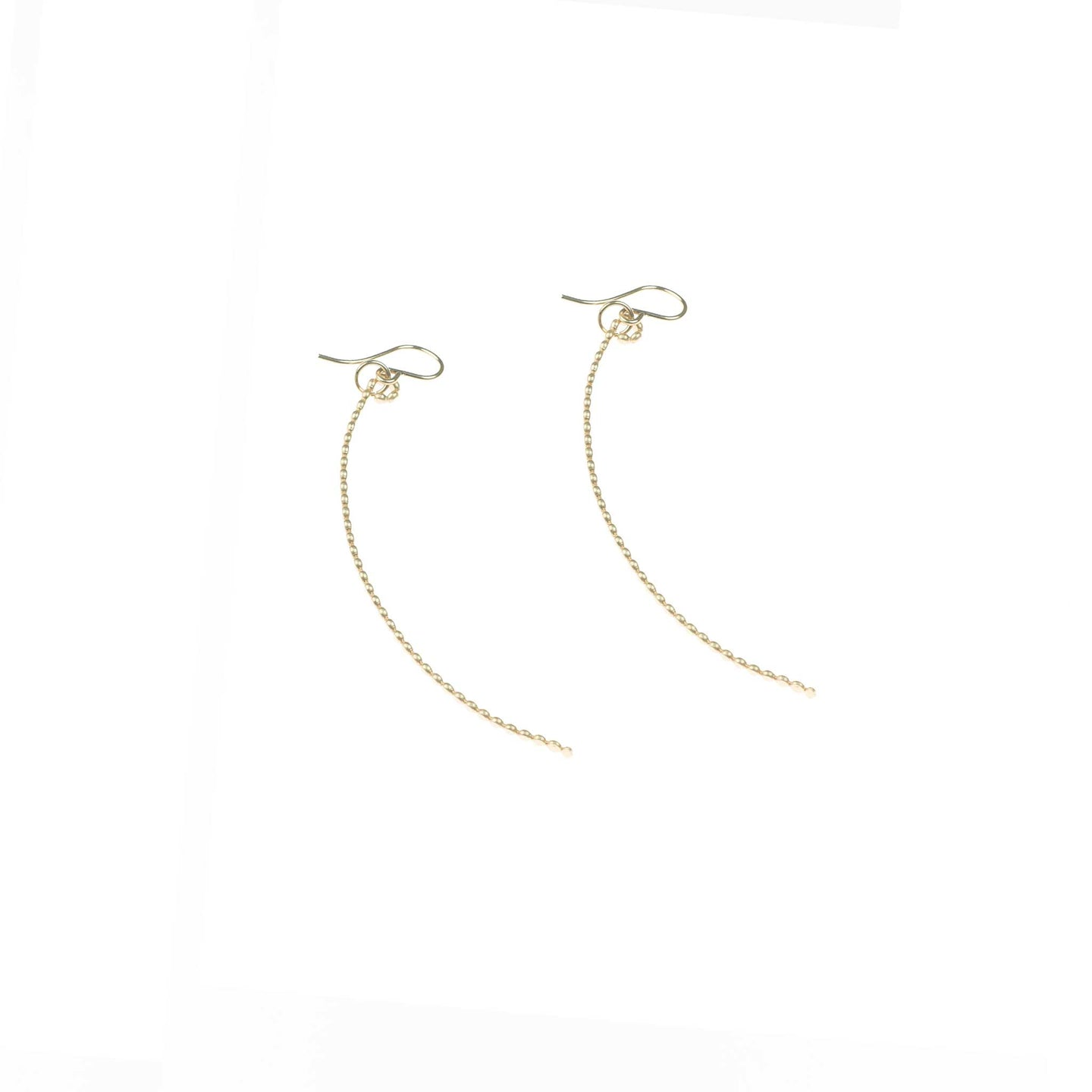 Tiny Dot Curve Earrings