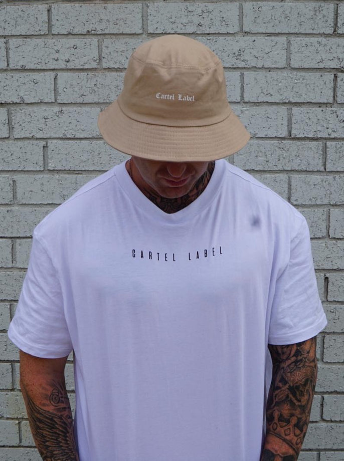 The Mens Rebel Bucket Hat - Sand