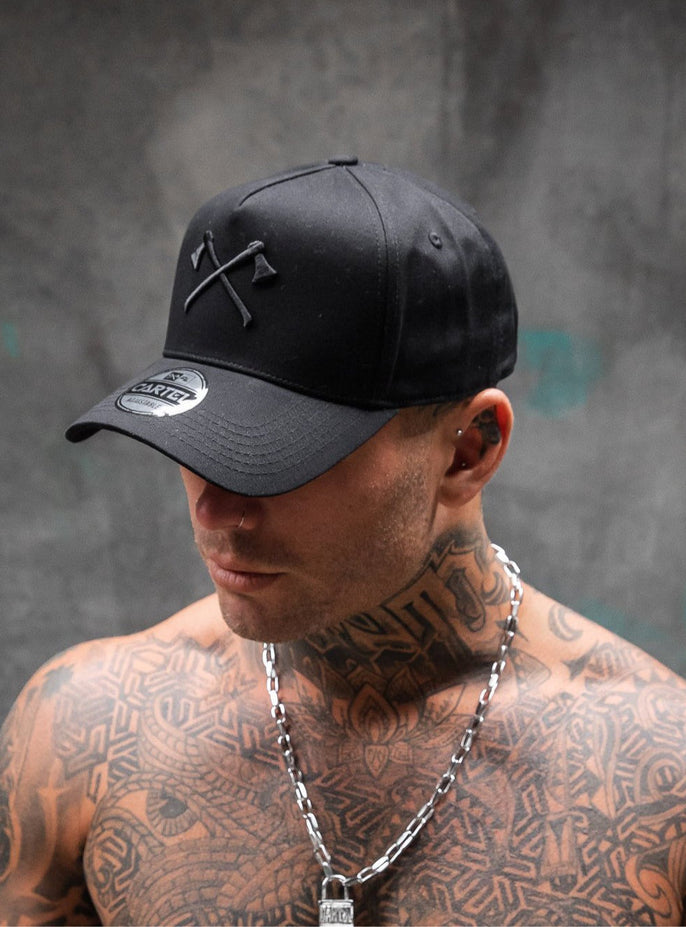 The Axes A-Frame Snapback - Black