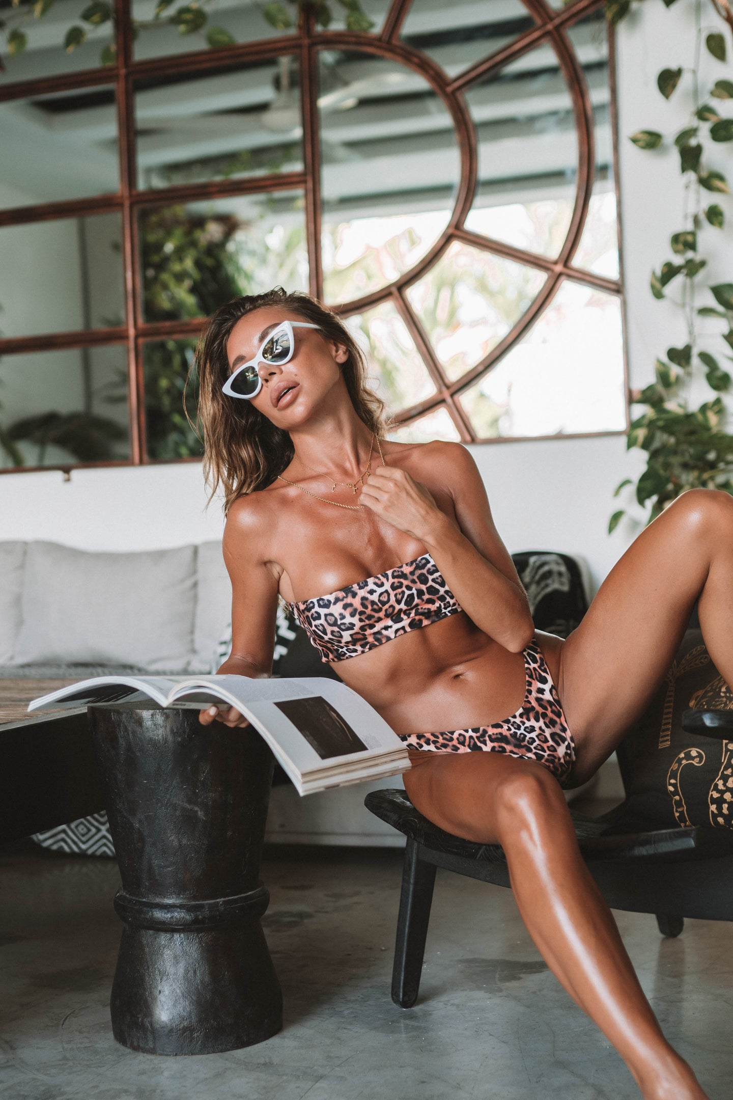 The Leopard Cheeky Bikini Bottom