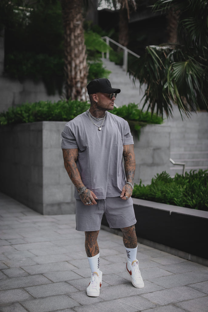 The Silhouette Drop Tee - Storm Grey Secondary
