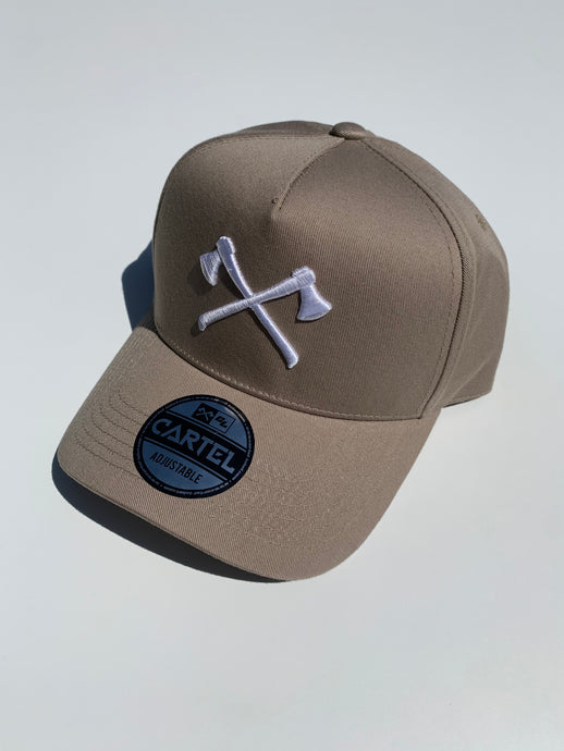 The Axes A-Frame Snapback - Sand/White