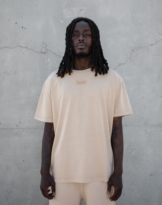 The Silhouette Drop Tee - Desert