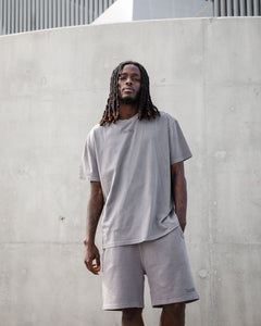 The Silhouette Drop Tee - Storm Grey