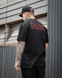 The Shock Tee - Black/Red