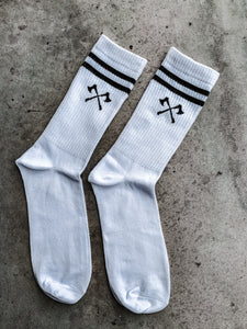 The Axes Socks - White