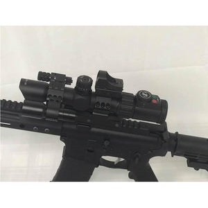 Sniper ST 1-4X28 AR Tactical Rifle Scope Combo Red/Green Illuminated Reticle, Flash Light, RED Dot sight and Reflex Dot Sight