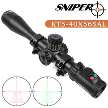Load image into Gallery viewer, Sniper KT 5-40X56 SAL Rifle Scope 35mm Tube Side Parallax Adjustment Glass Etched Reticle Red Green Illuminated with Scope Rings