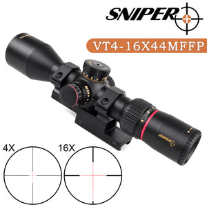 Sniper VT 4-16x44 MFFP First Focal Plane (FFP) Scope with Red/Green Illuminated Reticle
