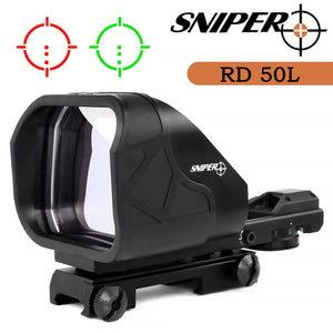 Sniper RD50L Holographic Reflex Sight with Red and Green Reticles