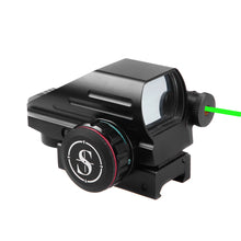 Load image into Gallery viewer, Sniper RD22LG Holographic Reflex Sight with 4 Reticles Red and Green Dot with Green Laser