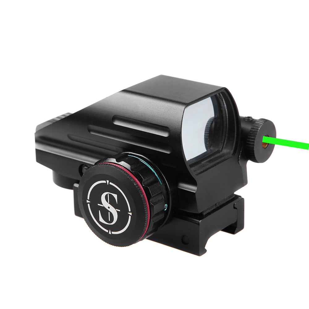 Sniper RD22LG Holographic Reflex Sight with 4 Reticles Red and Green Dot with Green Laser