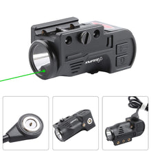 Load image into Gallery viewer, GL02 Combo Flashlight and Green Laser Magnetic Charging Internal Green Laser Sight & Flashlight Laser Combo with Rechargeable Battery