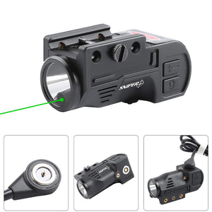 GL02 Combo Flashlight and Green Laser Magnetic Charging Internal Green Laser Sight & Flashlight Laser Combo with Rechargeable Battery