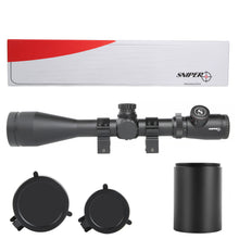 Load image into Gallery viewer, Sniper HD 6-24x50 SAL Hunting Rifle Scope 30mm Tube Side Parallax Adjustment with Red Green Illuminated Reticle