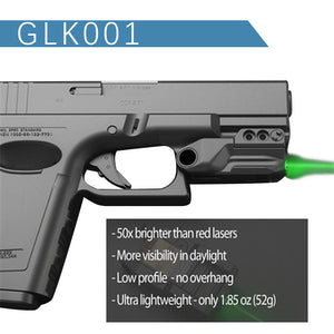 GLK001 Green Laser Sight with Sensor ON-Off Smart Activation Rechargeable Battery for Pistols Handguns