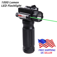 Load image into Gallery viewer, Sniper Tactical Vertical Foregrip - 1000 Lumen LED Flashlight Green Laser Sight - 20mm Rail Mount