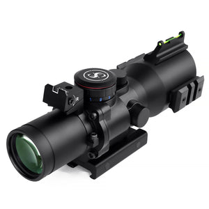 Sniper PM3.5X40CB Scope with Red, Green Illuminated Rapid Range Reticle