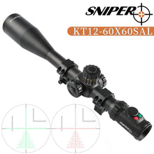 Load image into Gallery viewer, Sniper KT 12-60X60 SAL Rifle Scope 35mm Tube Side Parallax Adjustment Glass Etched Reticle Red Green Illuminated with Scope Rings