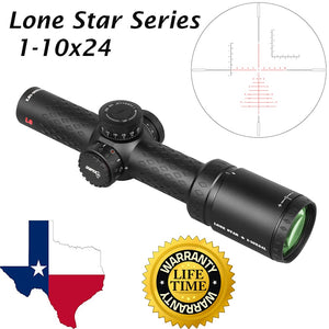 Sniper LS 1-10x24 Scope 35mm Tube with Red Illuminated Reticle .308