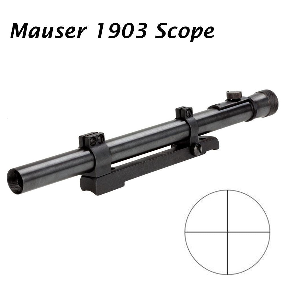 Sniper Mauser 1903 Rifle Scope Steel Tube and Steel Mount