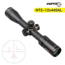 Load image into Gallery viewer, Sniper NT 2-12X44 Tactical Rifle Scope Red/Green Illuminated Rangefinder Reticle