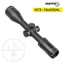 Load image into Gallery viewer, Sniper NT 3-18X50 Tactical Rifle Scope Red/Green Illuminated Rangefinder Reticle