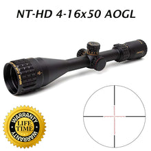 Load image into Gallery viewer, Sniper NT-HD 4-16X50 AOGL Scope with Red, Green Illuminated Reticle