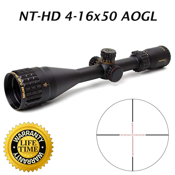 Sniper NT-HD 4-16X50 AOGL Scope with Red, Green Illuminated Reticle