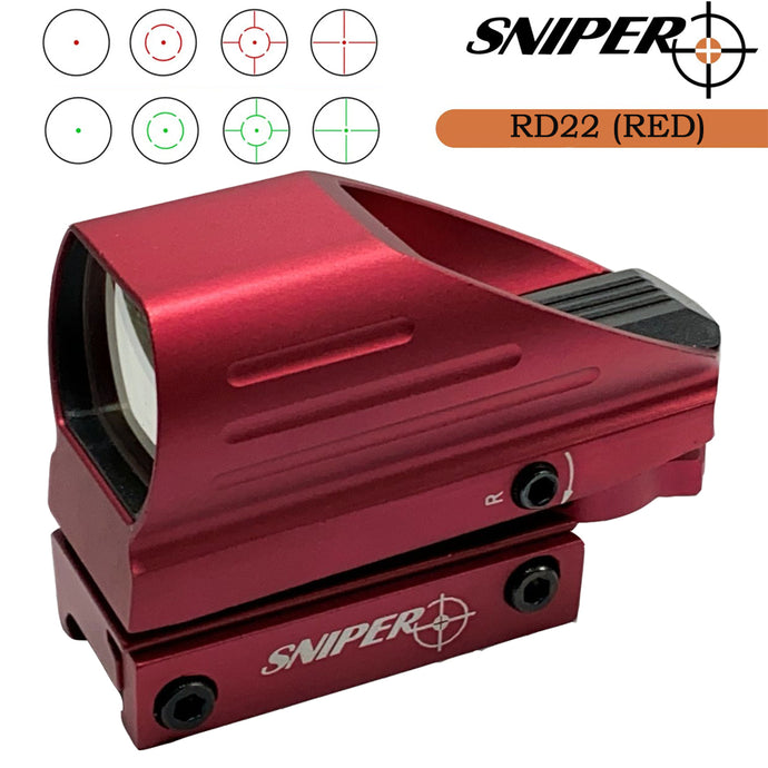 RD22(RED) Red & Green Dot Sight 4 Reticles Reflex Sight