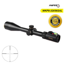 Load image into Gallery viewer, Tactical SNIPER WKP 8-32X56 SAL Rifle Scope Side Parallax Adjustment Glass Etched Reticle RG Illuminated with Bubble Level
