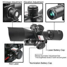 Load image into Gallery viewer, ST 2.5-10x40 Tactical Rifle Scope Combo R/G Mil-dot illuminated Green Laser with Red Dot Sight