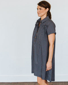 Black Plaid Short Sleeve Birdie Dress