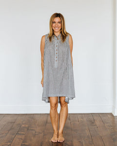Black Gingham Birdie Dress