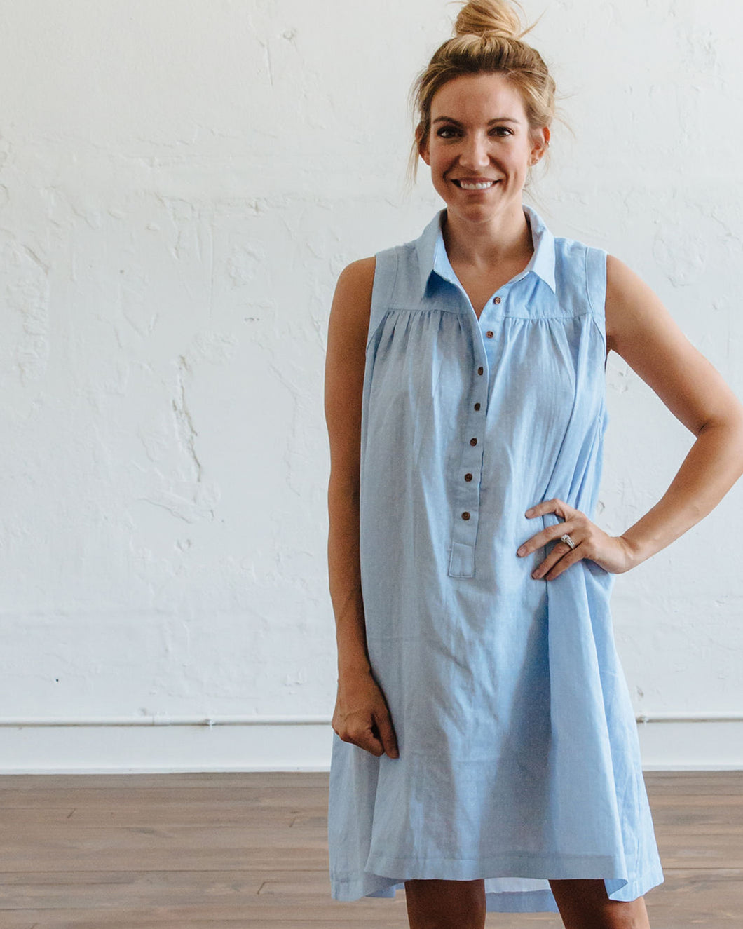 Blue Dot Birdie Dress