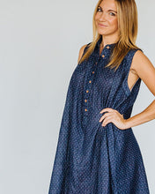 Load image into Gallery viewer, Deep Blue Dot Birdie Dress