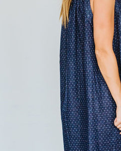 Deep Blue Dot Birdie Dress