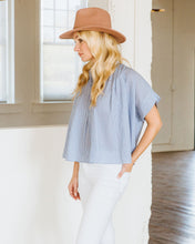 Load image into Gallery viewer, Oxford Stripe Blue Mae Top