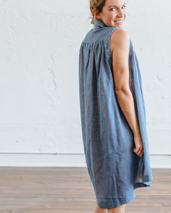 Chambray Birdie Dress