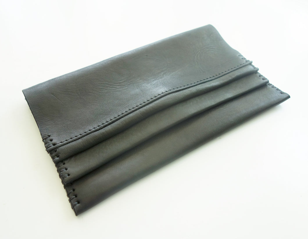 Elle Leather Clutch