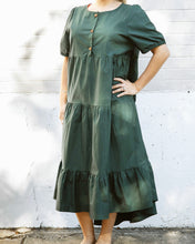 Load image into Gallery viewer, Emma Evergreen Maxi Dress