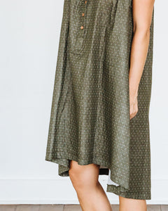 Olive Dot Birdie Dress